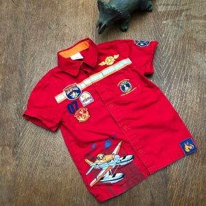 Disney Planes short sleeve snap front shirt